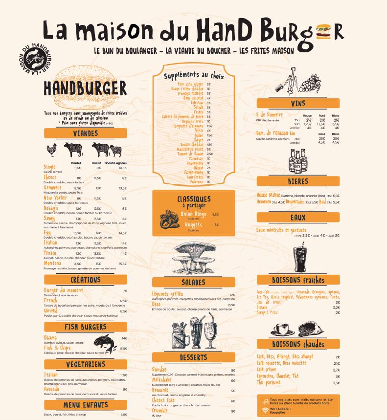 Burger Bar La Maison Du Handburger